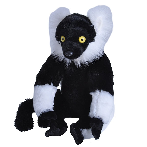 BLACK & WHITE RUFFED LEMUR PLUSH