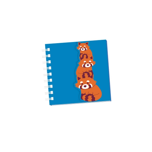 NOTEPAD GLITTER GLAM RED PANDA