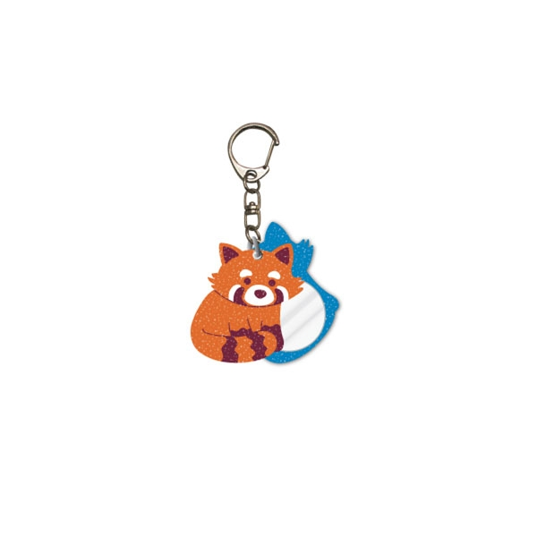 KEY CHAIN GLITTER GLAM RED PANDA