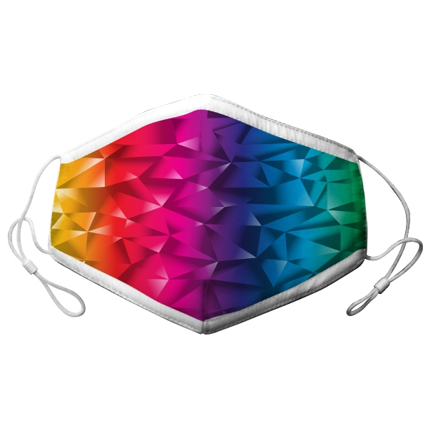 ADULT ADJUSTABLE RAINBOW GRADIENT MASK