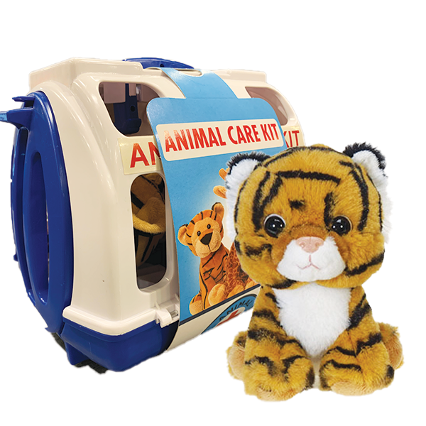 ANIMAL CARE KIT TIGER BLUE