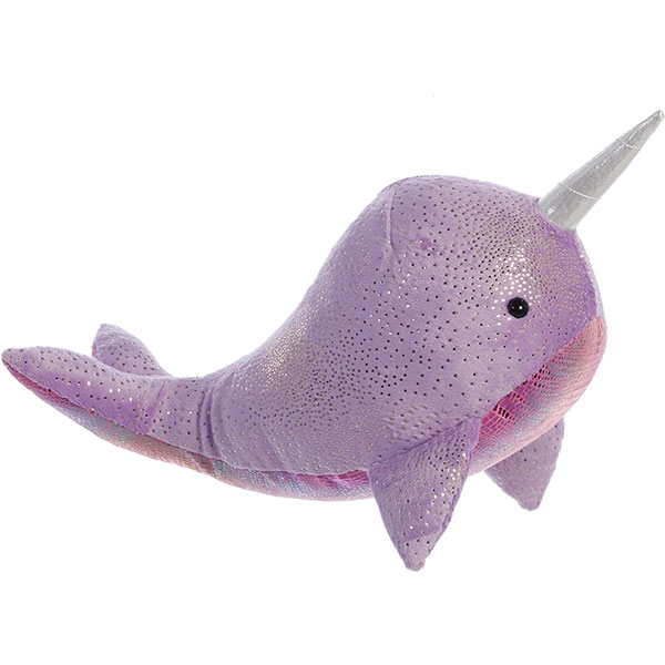 NARWHAL PLUSH WITH PURPLE ACCENTS PLUSH