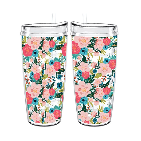 BOTANICAL TIGRESS CUP W/ STRAW