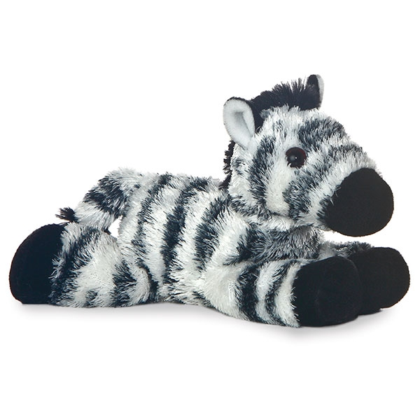 ZANY ZEBRA MINI FLOPSIE PLUSH