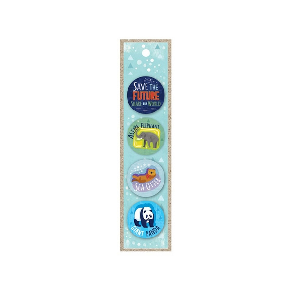SAVE THE FUTURE 4 PACK OF BUTTONS