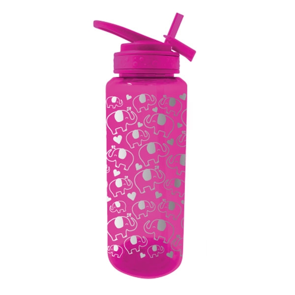 WATER BOTTLE GLITTER GLAM ELEPHANT