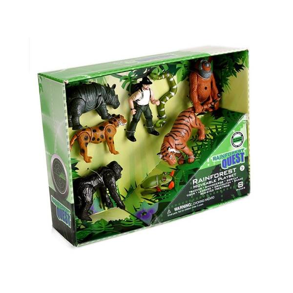 RAINFOREST QUEST MOVEABLE ANIMALS PLAYSET