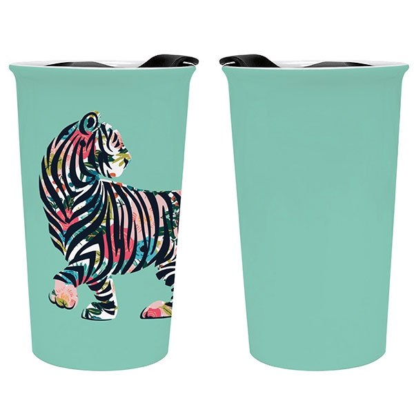BOTANICAL TIGRESS CERAMIC TUMBLER