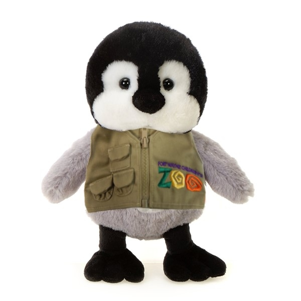 PENGUIN PLUSH WITH FORT WAYNE CHILDREN'S ZOO VEST