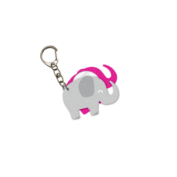 KEY CHAIN GLITTER GLAM ELEPHANT