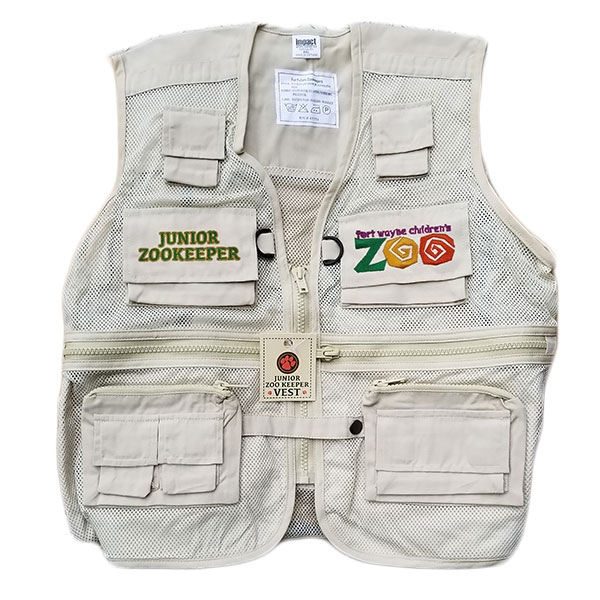 YOUTH VEST JR ZOO KEEPER KHAKI