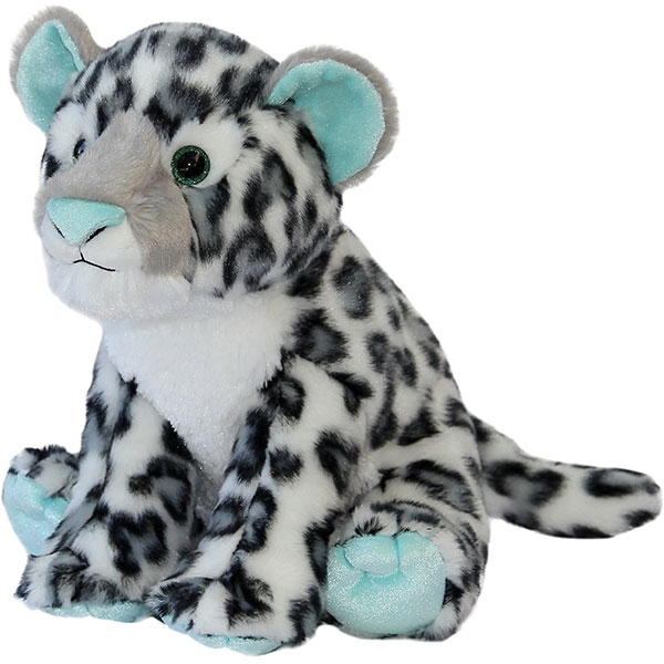 SNOW LEOPARD WITH MINT ACCENTS PLUSH