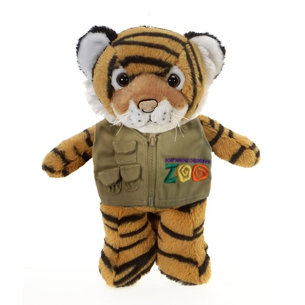 TIGER PLUSH WITH GREAT PLAINS CHILDREN'S ZOO VEST